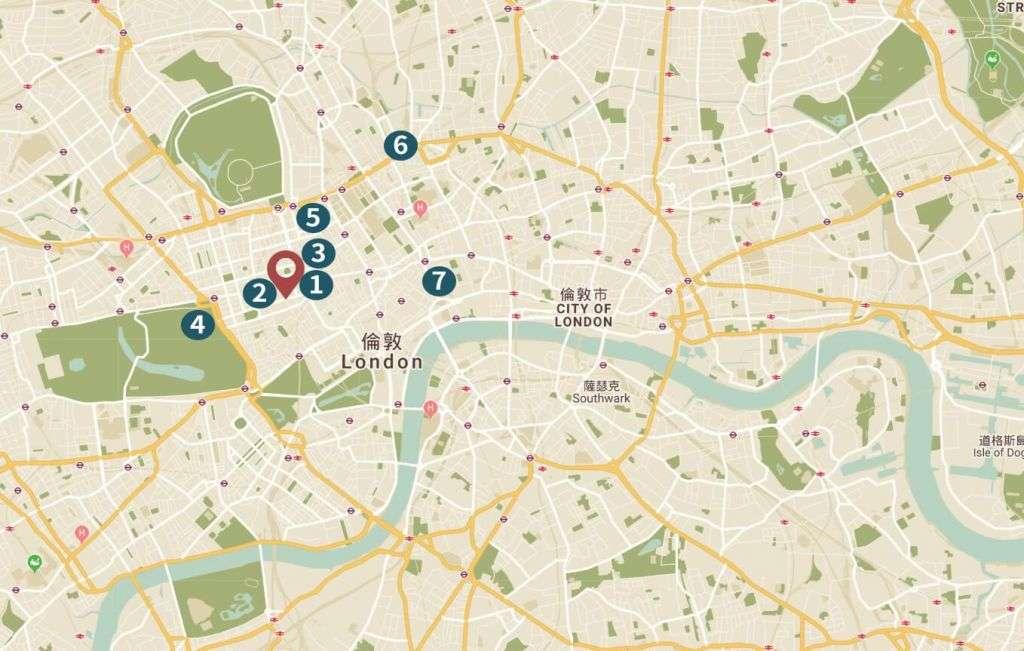 倫敦房地產 地理位置