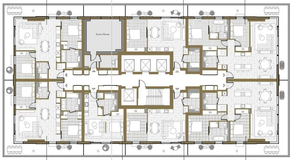 wardian floor plan