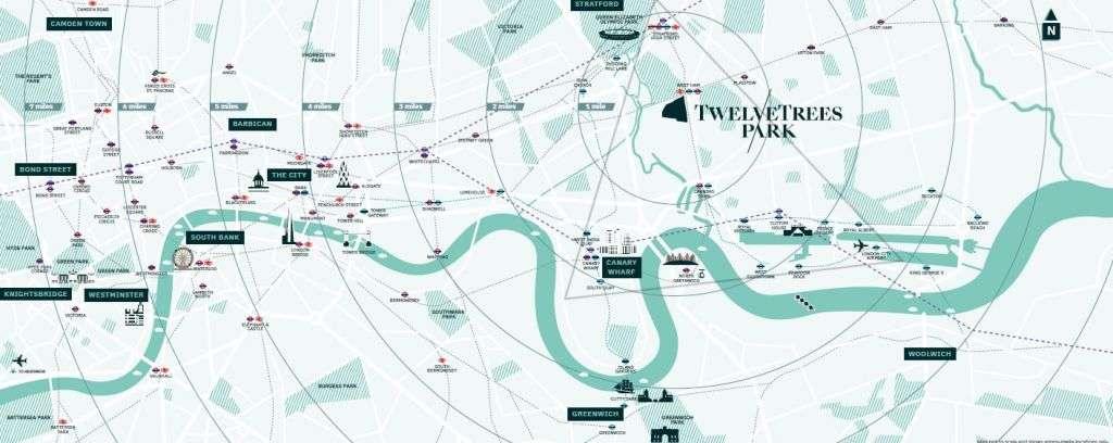 TwelveTrees Park location