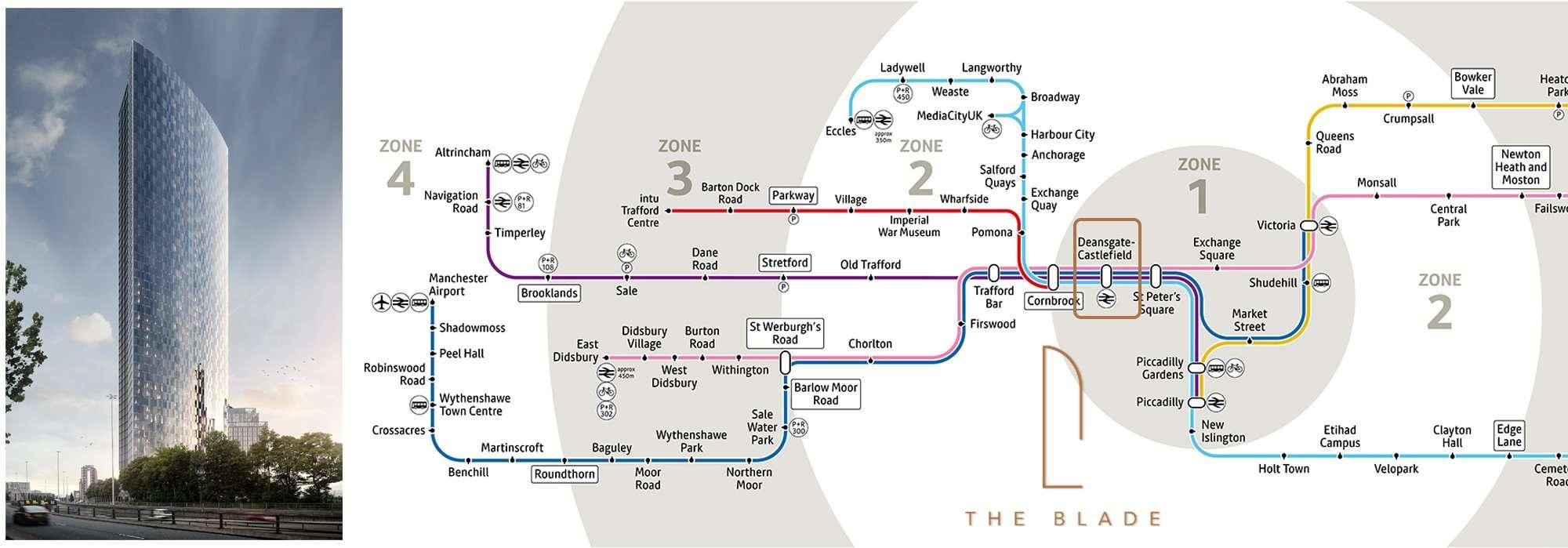 曼城地鐵圖