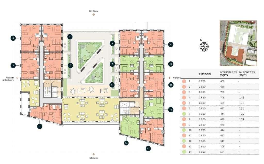 伯明翰房地產 平面圖
